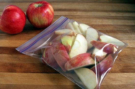 Those packages of pre-sliced apples you can buy at store are great for a healthy