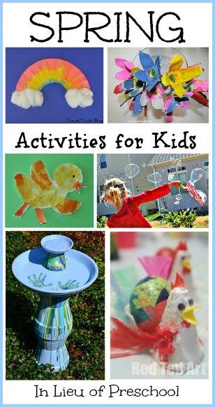 18 Spring Activities for Kids – In Lieu of Preschool