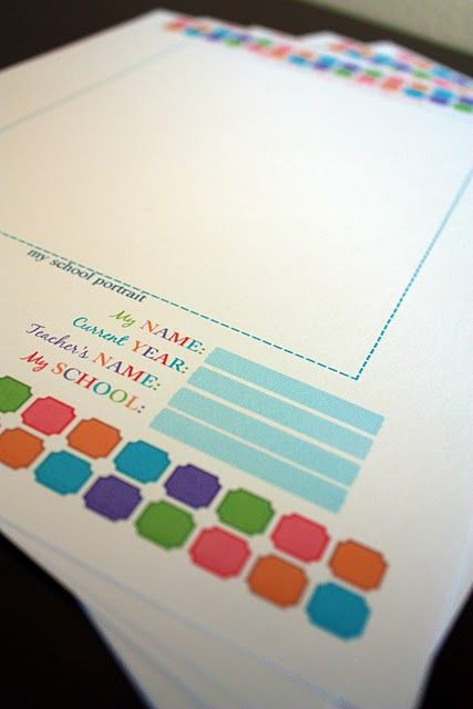 Free printables to create folders to organize kids school work for hanging file.