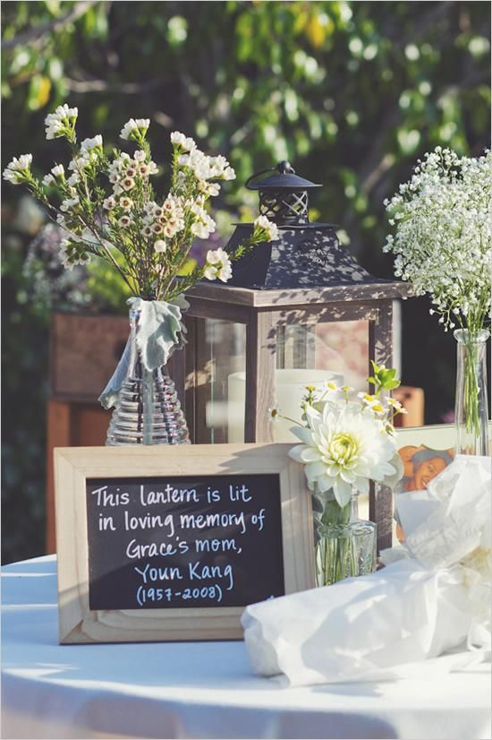 Memory tables are very popular at funeral. What a great and affordable idea to u