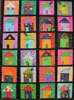 Maro's kindergarten: Snowy winter houses!