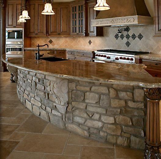 Love this kitchen bar.