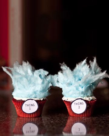 Dr.Seuss cupcakes! Great wedding gift to give a couple on rehearsal dinner night