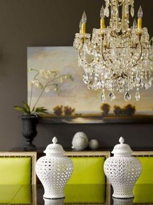 Love the taupe & citrus color scheme