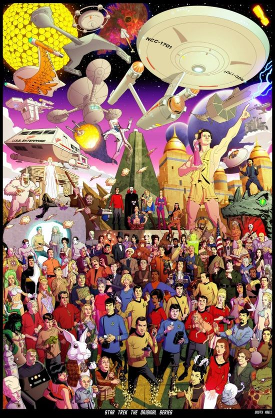 Every Episode Of Star Trek: TOS Is Represented In This Poster