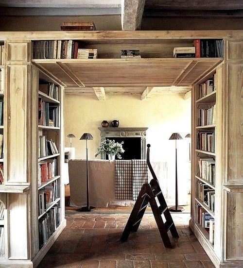bookshelf corridor
