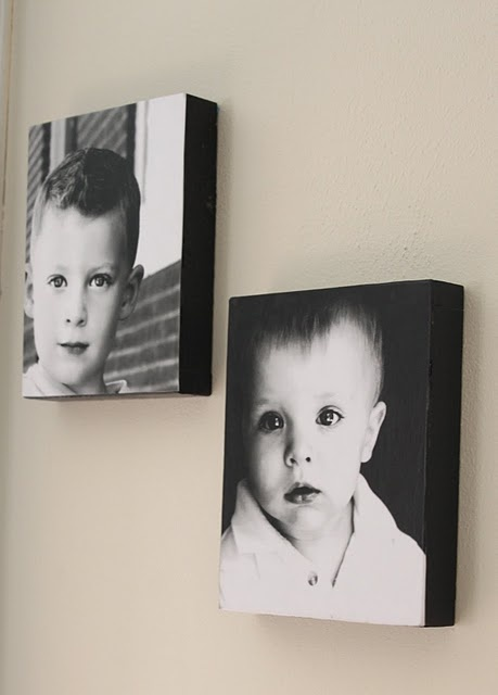 Mod Podged Photos Boxes –cheaper than photo on canvas!