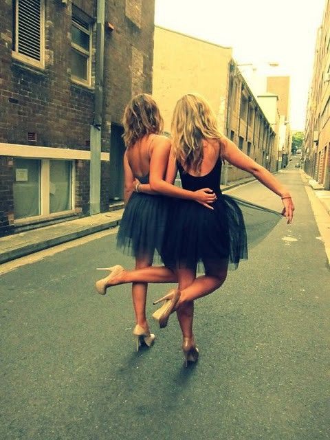 Tutus and heels- fun bachelorette party! Aww this would be sooo much fun. Bride