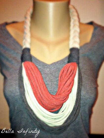 DIY tshirt scarf
