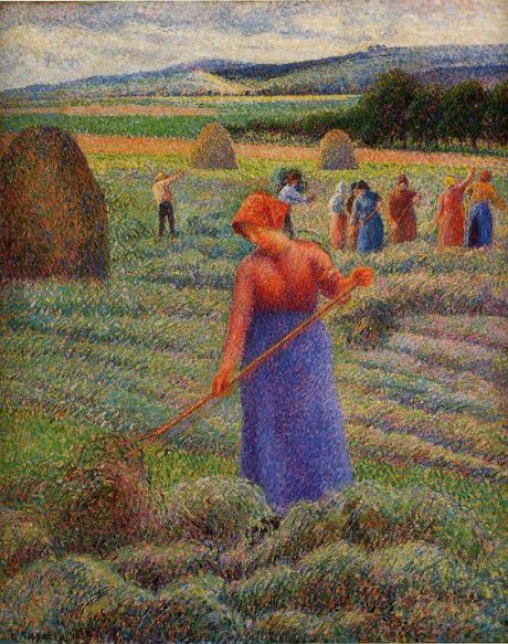 Haymakers at Eragny - Camille Pissarro: