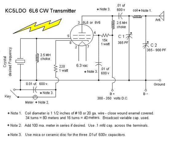 Here S A Simple 6v6 Or 6l6 Qrp Cw Transmitter For Straight