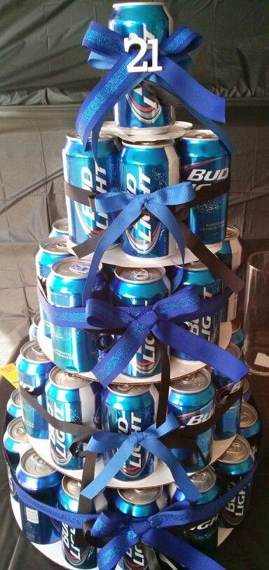 21st Birthday Beer Cake L Pinterest 21st Birthday