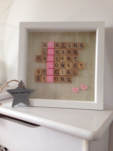 Mother's Day frame | Dominoes and Scrabble Tiles ...