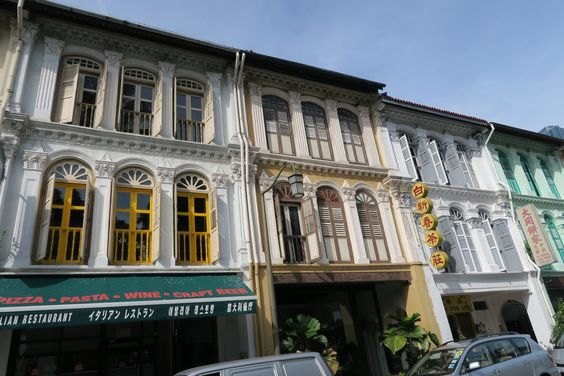 Colonial-era shophouses like these were populated by many during the days of the Straits Settlements, but the more heavily decorated and embellished ones were typically designed, and owned by the Peranakan.