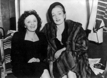 Image result for marlene dietrich and edith piaf
