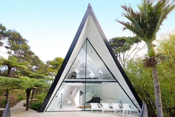 Modern and Luxurious Tiny A-frame Cabin 001: