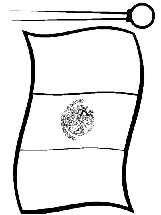 Mexican Flag Print Out free colorable   Mexican Flag ...