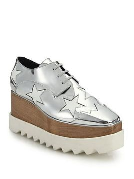 STELLA MCCARTNEY Wood & Rubber-Platform Metallic Star Oxfords - $1080 | House of Beccaria~: