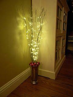 DIY Easy Christmas Decoration For Corners Vase Sticks