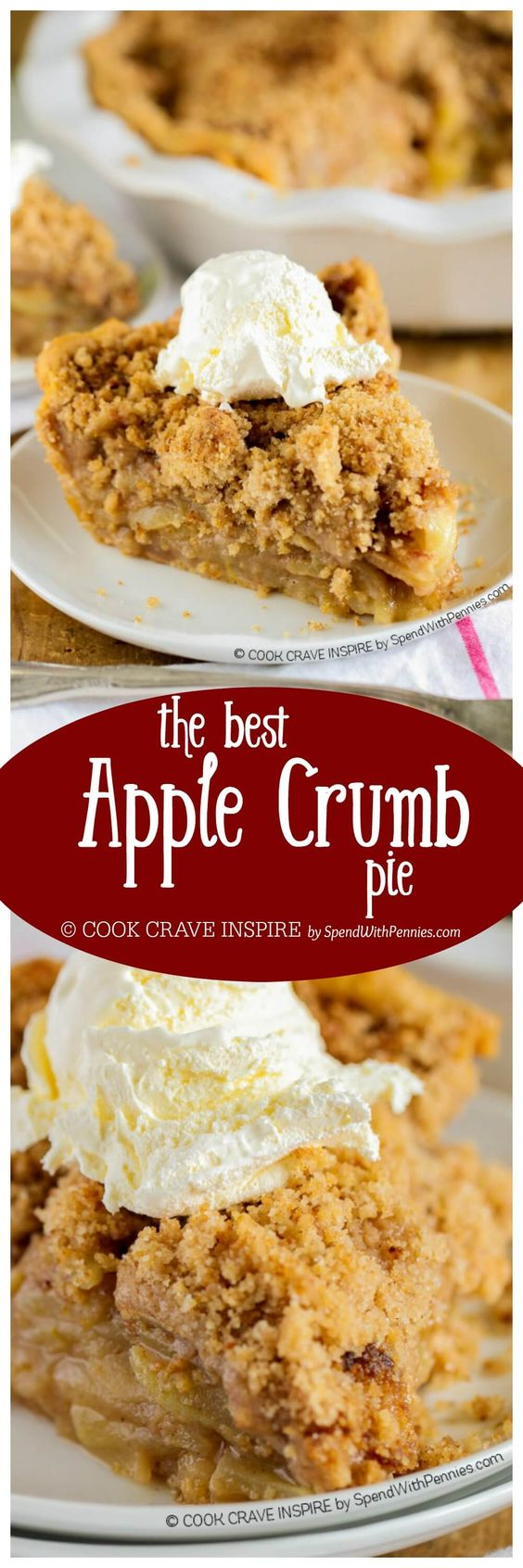 The BEST Apple Crumb Pie Dessert Recipe via Spend With Pennies - This is truly the best apple pie recipe you'll ever make! Loaded with fresh tart apples and topped with a sweet brown sugar crumble, this is one recipe that will be requested over and over! Favorite EASY Pies Recipes - Brunch Dessert No-Bake + Bake Musts
