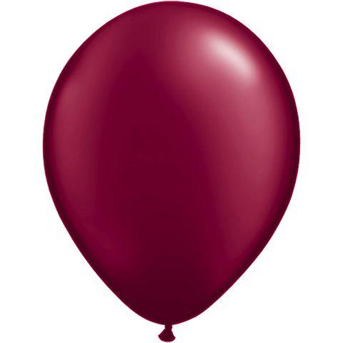 Pearl Burgundy Qualatex 11 Latex Balloon Single