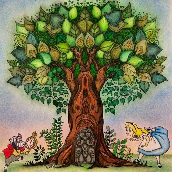 Floresta EncantadaArvoreJohanna Basford Rvore