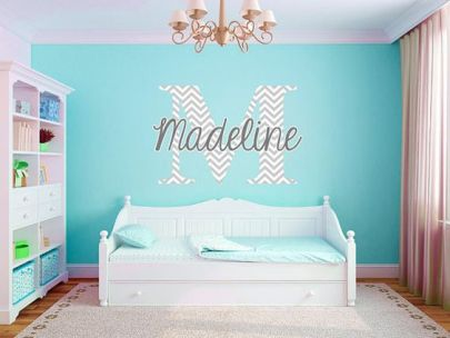 Personalized chevron wall decal, great in any room: