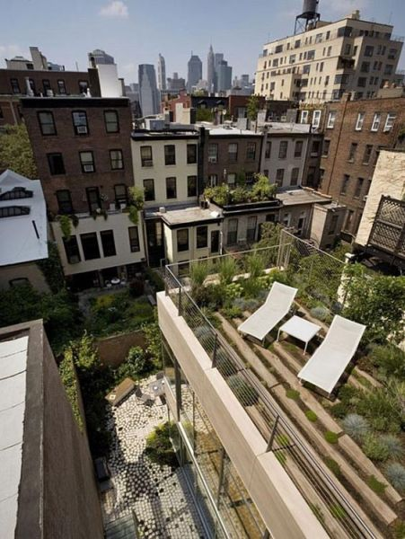 rooftop garden brooklyn Gardens, Brooklyn brownstone and Roof terraces on Pinterest