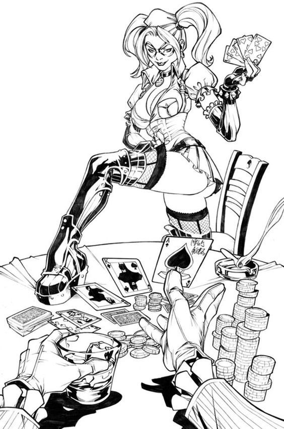 suicide squad harley quinn coloring pages for adults