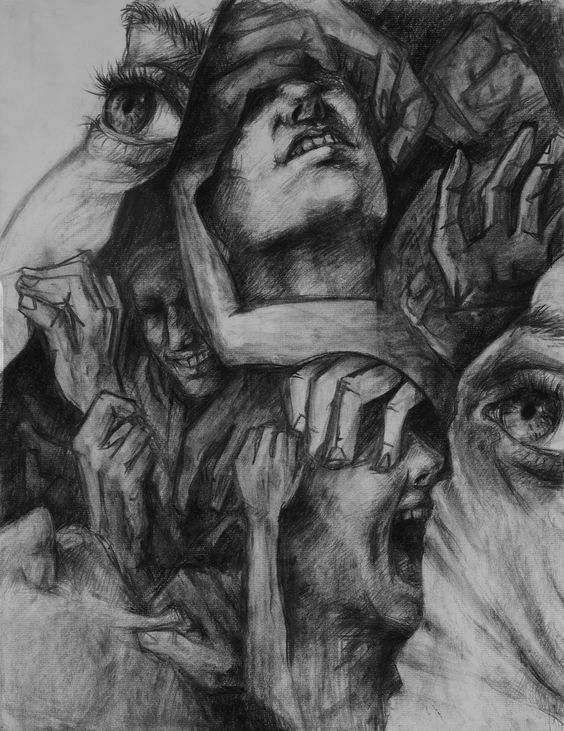 'I is another' [Arthur Rimbaud].  DID by mendnend.deviantart.com on @deviantART