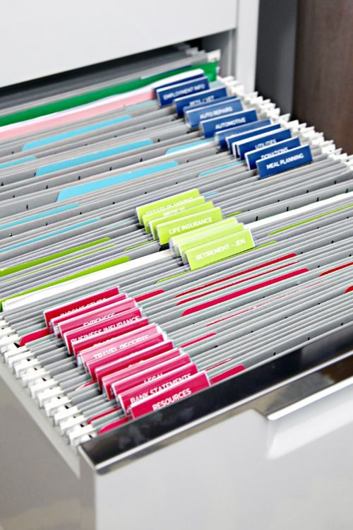 IHeart Organizing Filing Cabinet Organization Especially Helpful With The Label Template For