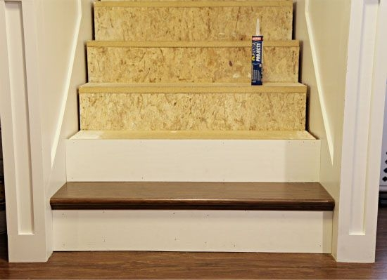 Stair Re Do Using False Treads From Home Depot Http Www   Home Depot Hardwood Stair Treads