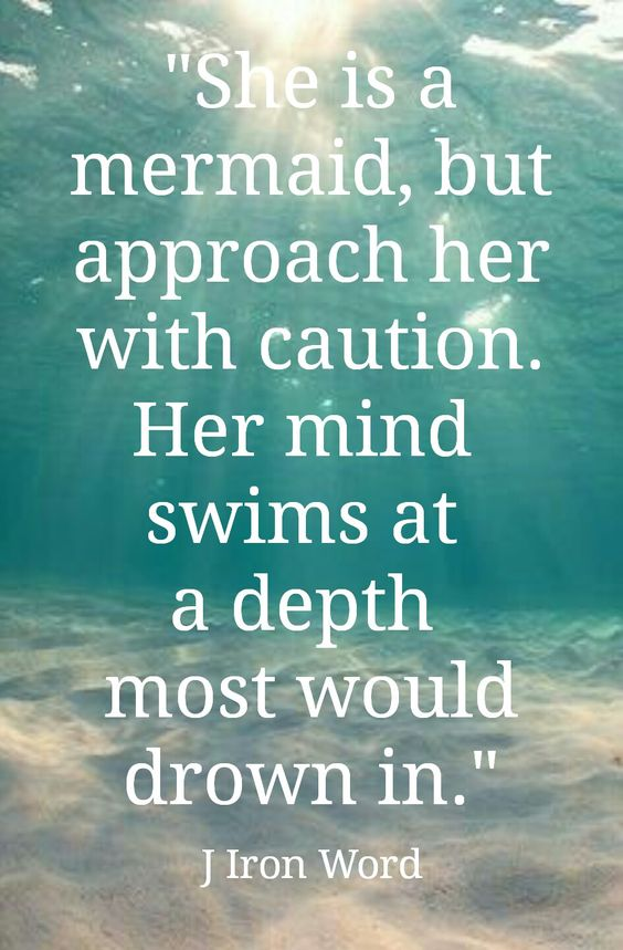 She is a mermaid, but approach her with caution. Her mind swims at a depth most would drown in. ⚓: