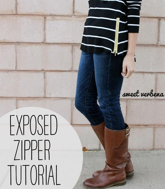 DIY Clothes DIY Refashion DIY Clothes Refashion: DIY Exposed Zipper Top: a tutorial