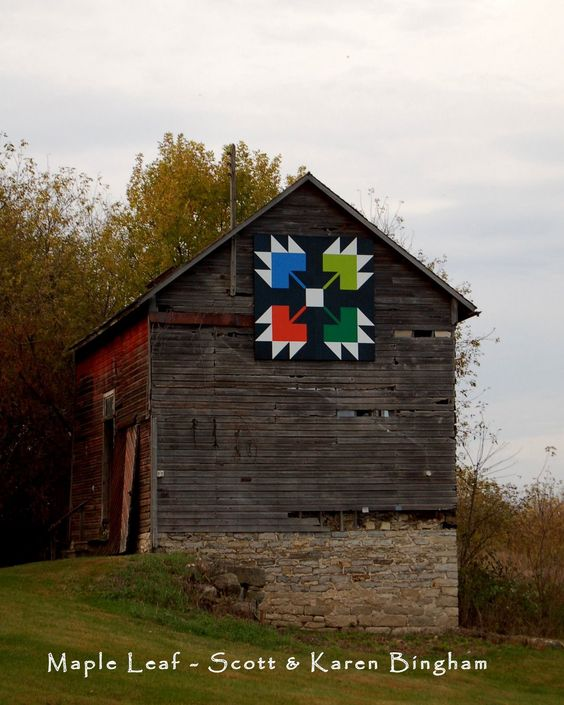 Barn quilts, Barns and Maple leaves on Pinterest