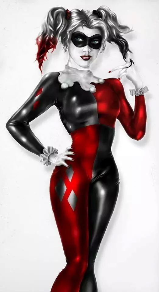 Harley Quinn, I like how they added the black and red tips ...