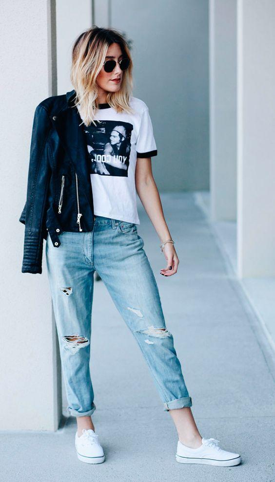 Tendencia outono inverno 2017 look calça jeans