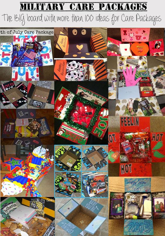 Military Care Packages - What a novel idea - decorate the ...