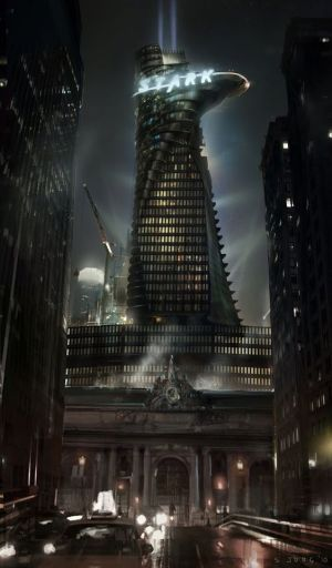 A conceptual picture of Stark Tower