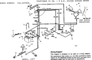 Craftsman Riding Mower Electrical Diagram | Craftsman 32