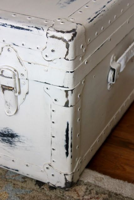 vintage trunk- painted