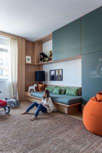 Arthur Casas NY (Foto: Fran Parente) quarto criança lousa madeira: