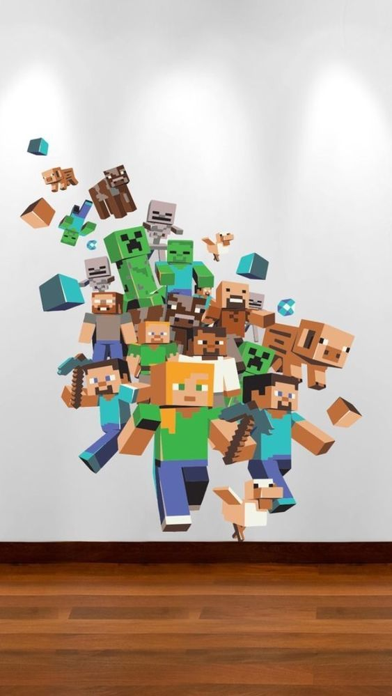 xbox games minecraft and wall stickers on pinterest on wall stickers for bedroom id=26871