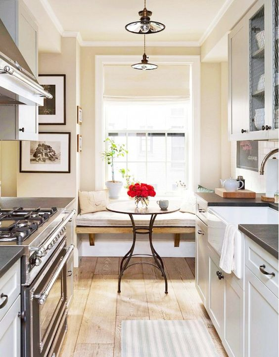inside a manhattan apartment with rustic charm nooks breakfast nooks and window benches on kitchen nook id=81601