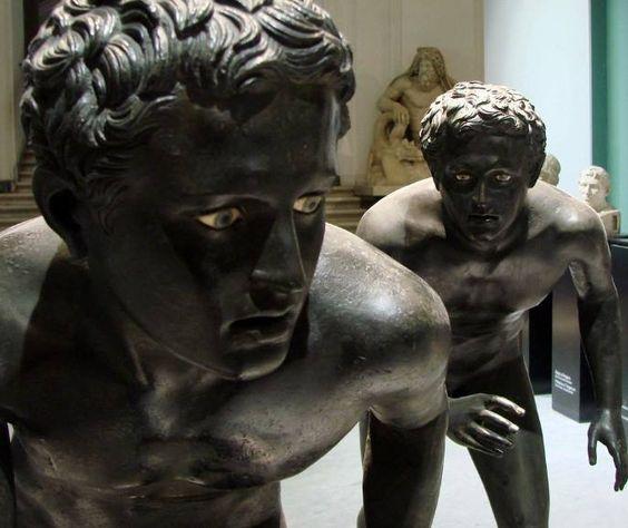 I due corridori, Villa dei Papiri, Ercolano, Museo Archeologico, Napoli: