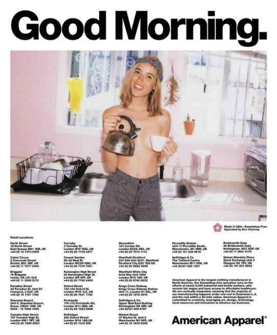 Good Morning. #AmericanApparel #ad: