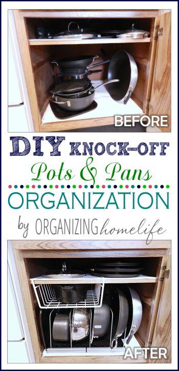 pan organization organizations and pots on pinterest on kitchen organization pots and pans id=25765