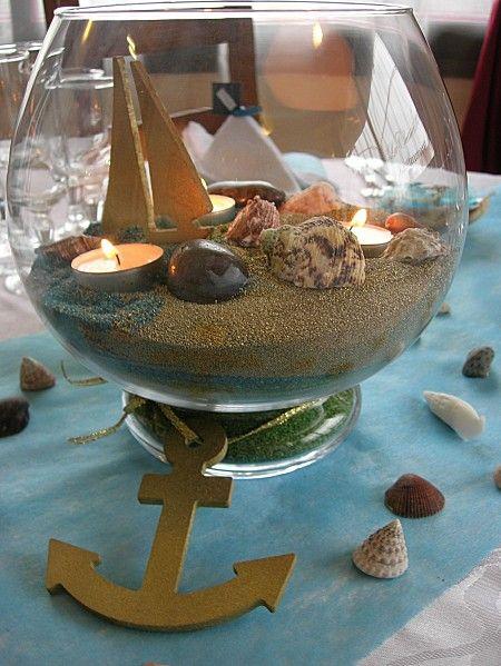 Dcoration De Table Thme Marin Lart De La Table