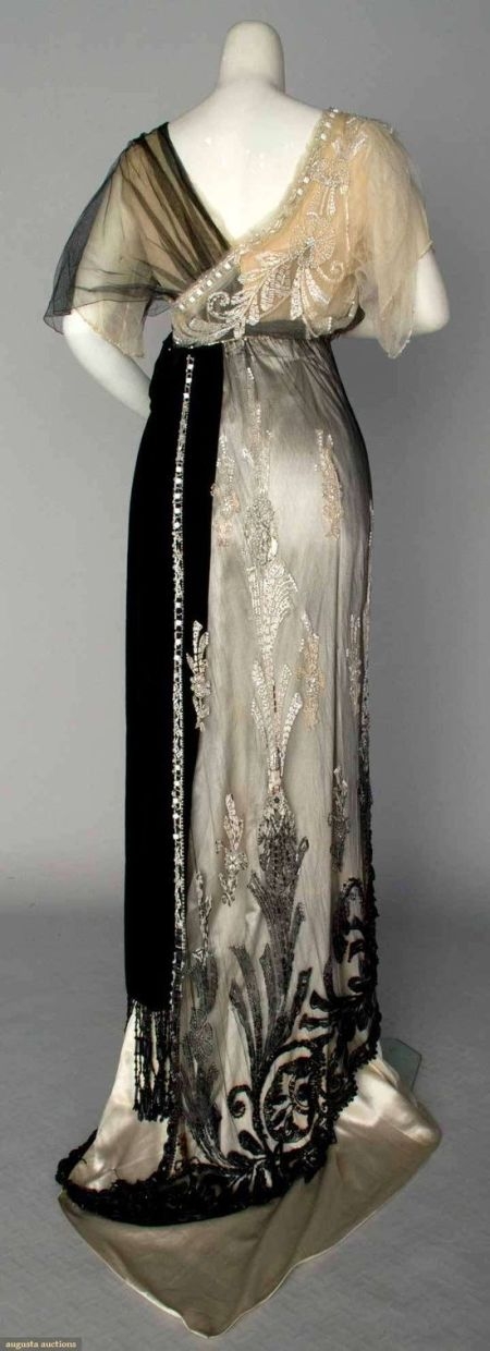 Paquin evening gown, Paris, 1911-WOW!: