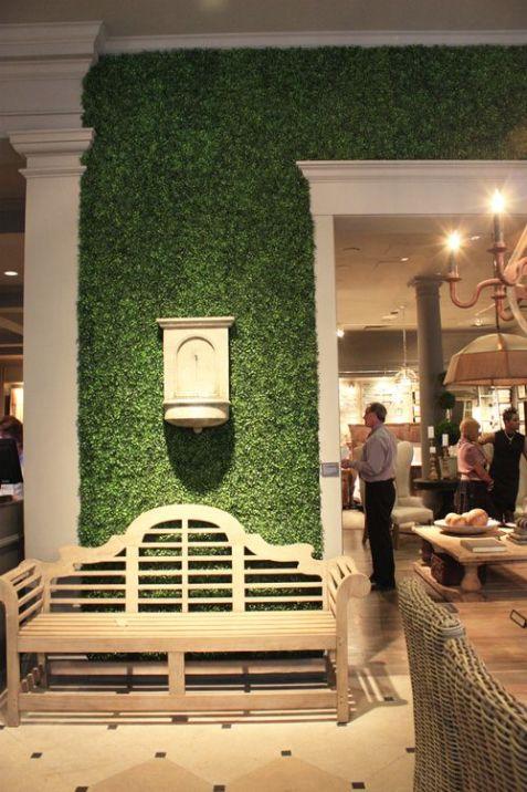 Grass interior wall Gift Shop Magazine